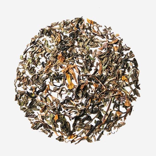 Double Mint Marigold hand picked loose leaf Natural Herbal premium green tea Leaf