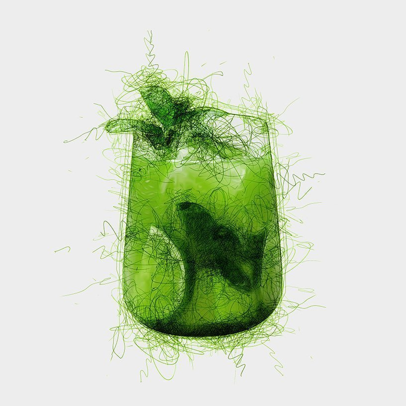 Cool Green Ocean Tea