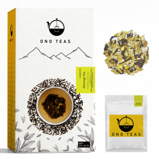 Moringa Green Pack with Teabag and inside content