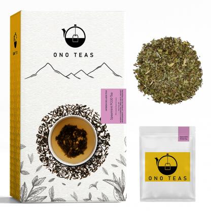 Spearmint tea bag