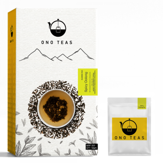 Spicy Oolong tea by Ono Teas: pack and teabag